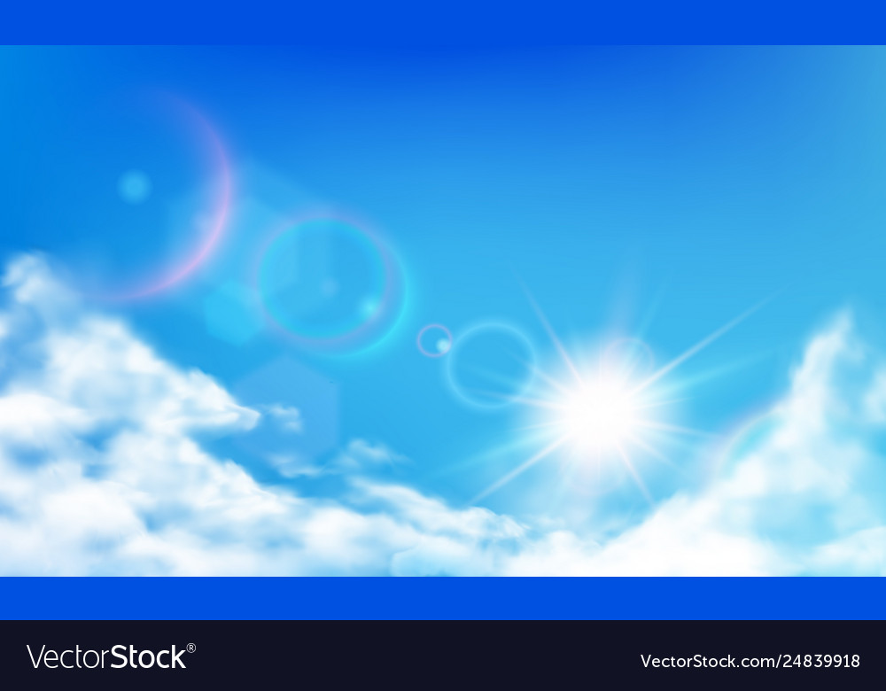 Cloudy sky daytime bright sun sunny day clouds