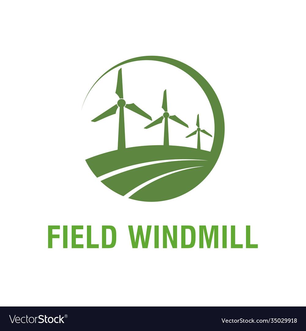 Field windmill farm nature environment energy air