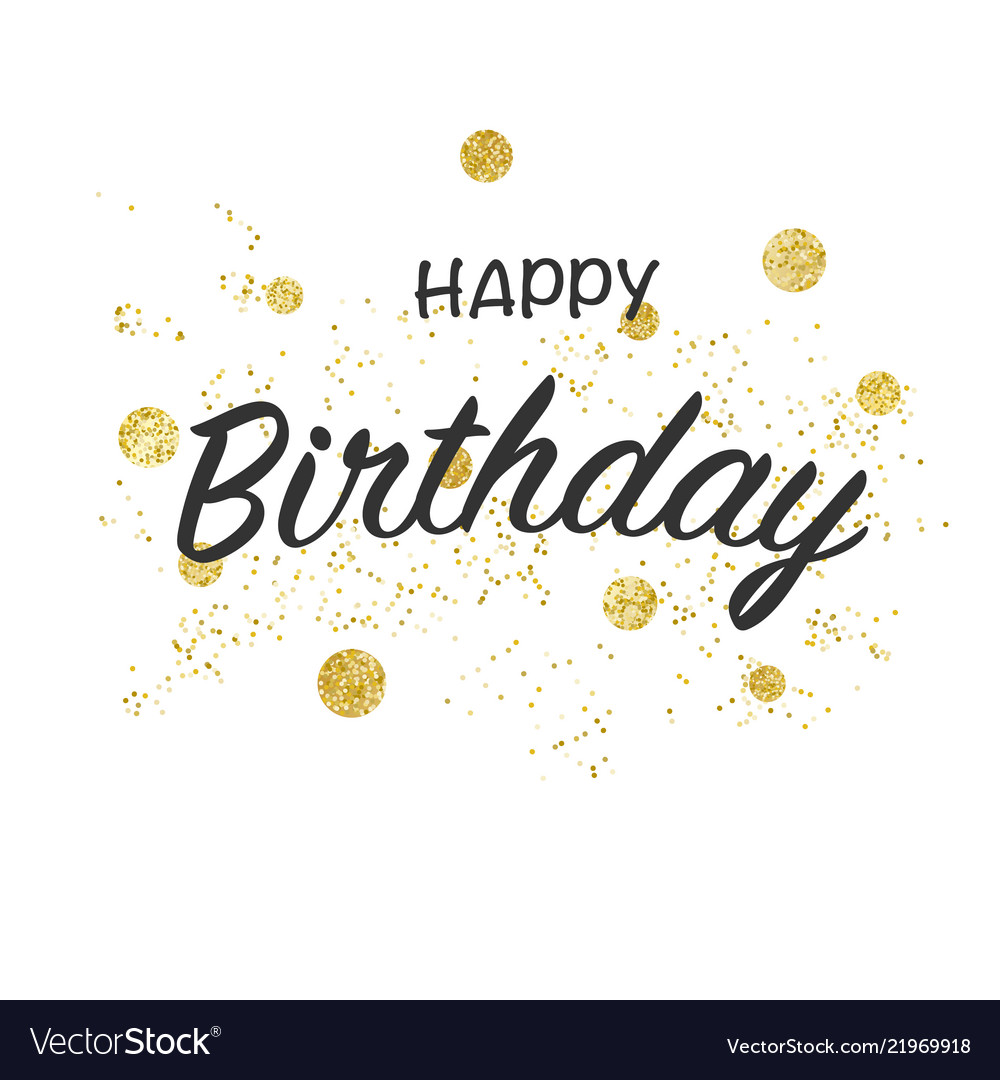 Happy birthday greeting card with