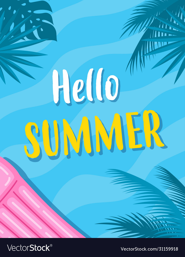 Summer card with inflatable mattress