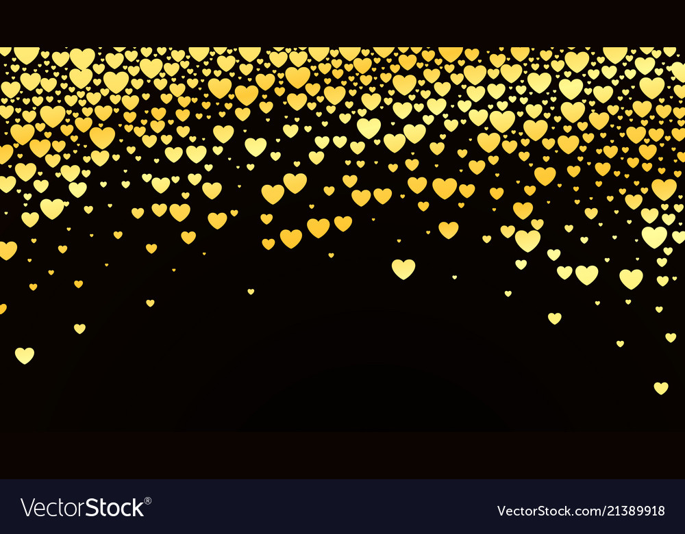 Valentines day background with glossy golden