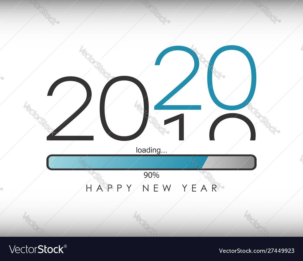 2020 new year with loading bar