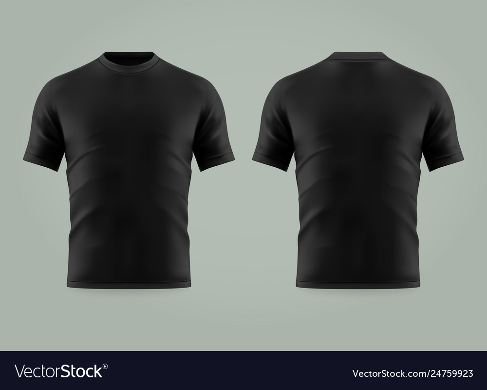 3d or realistic black t-shirt or shirt wear