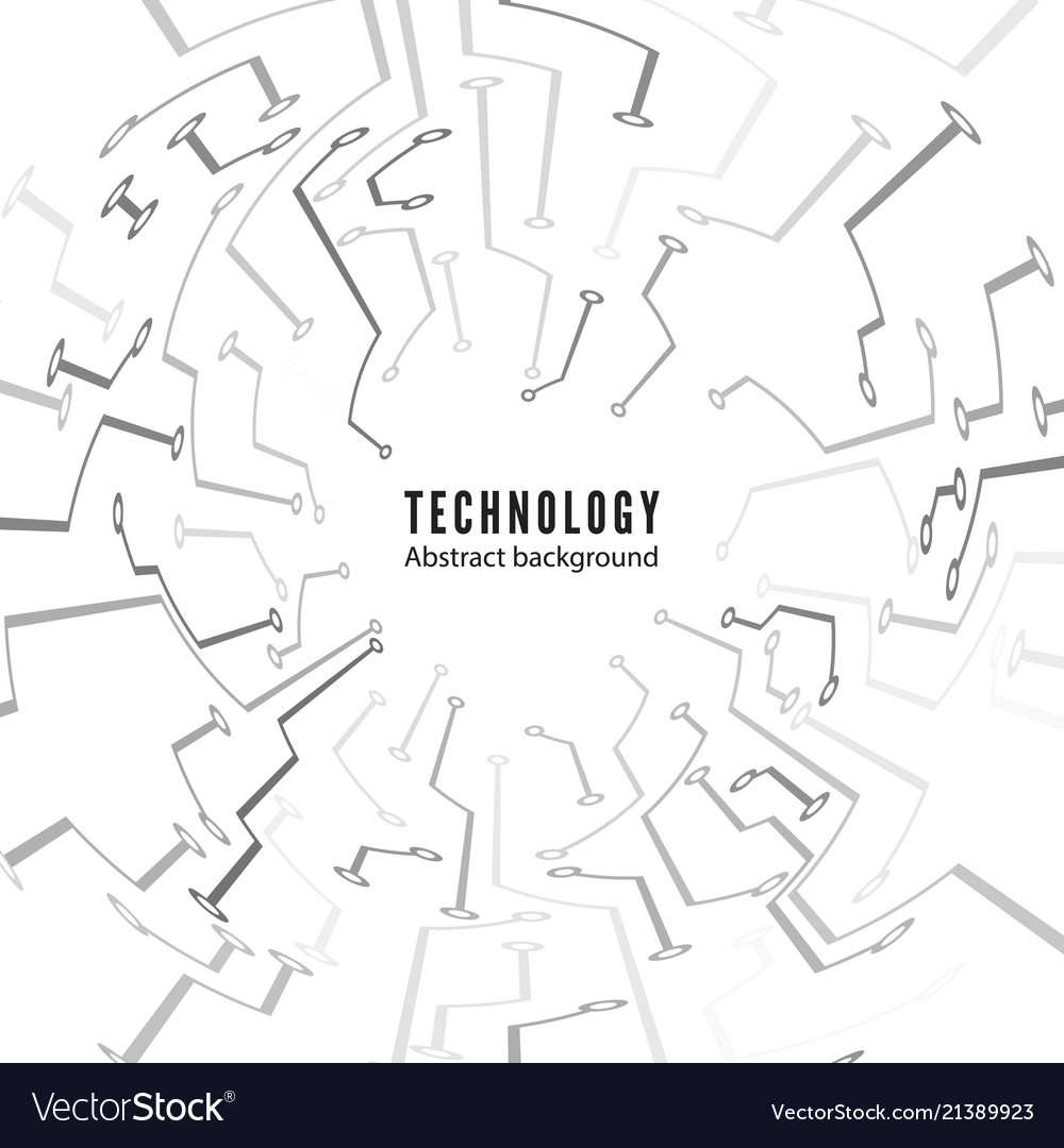 Abstract Technology Circuit Board Background Vector Image Binary Code On