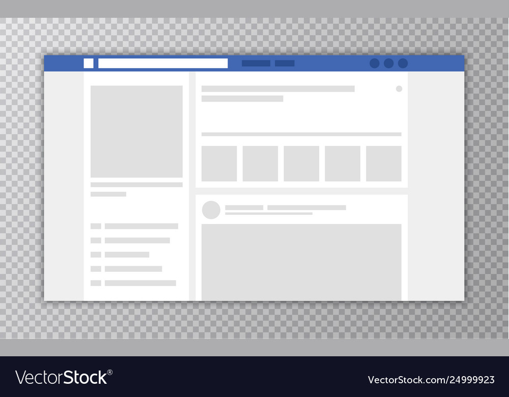 Browser window with web page concept social