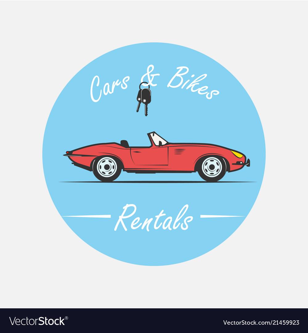 Car rental logo in vintage style