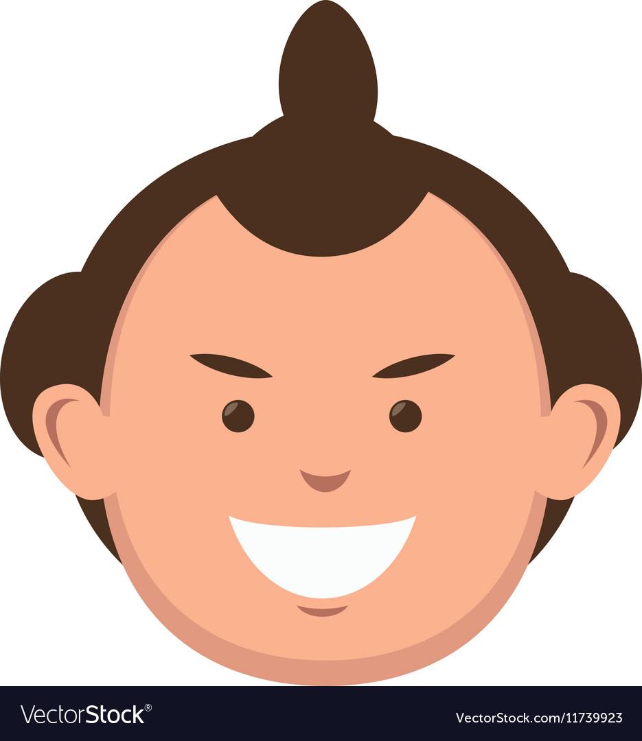 Character sumo wrestler japanese