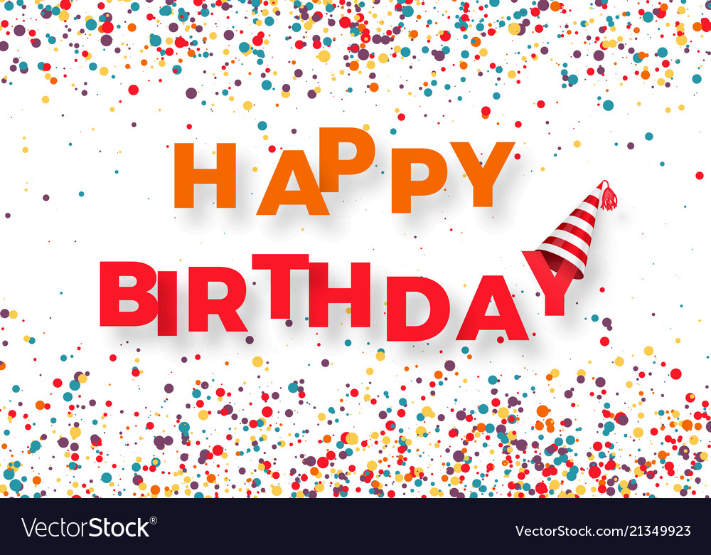 Happy birthday congratulation template colorful