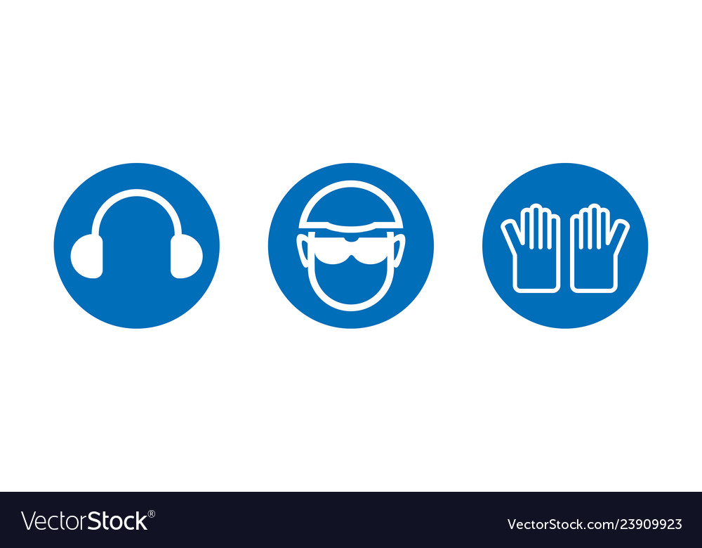 Health And Safety Logos Royalty Free Vector Image