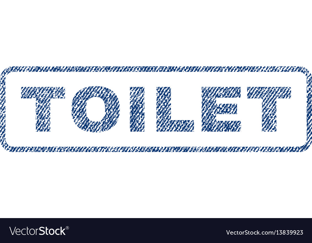 Toilet textile stamp vector image