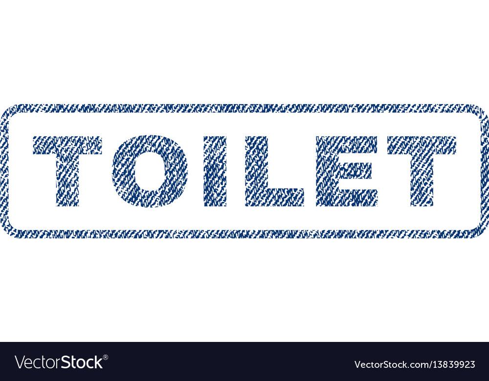 Toilet textile stamp