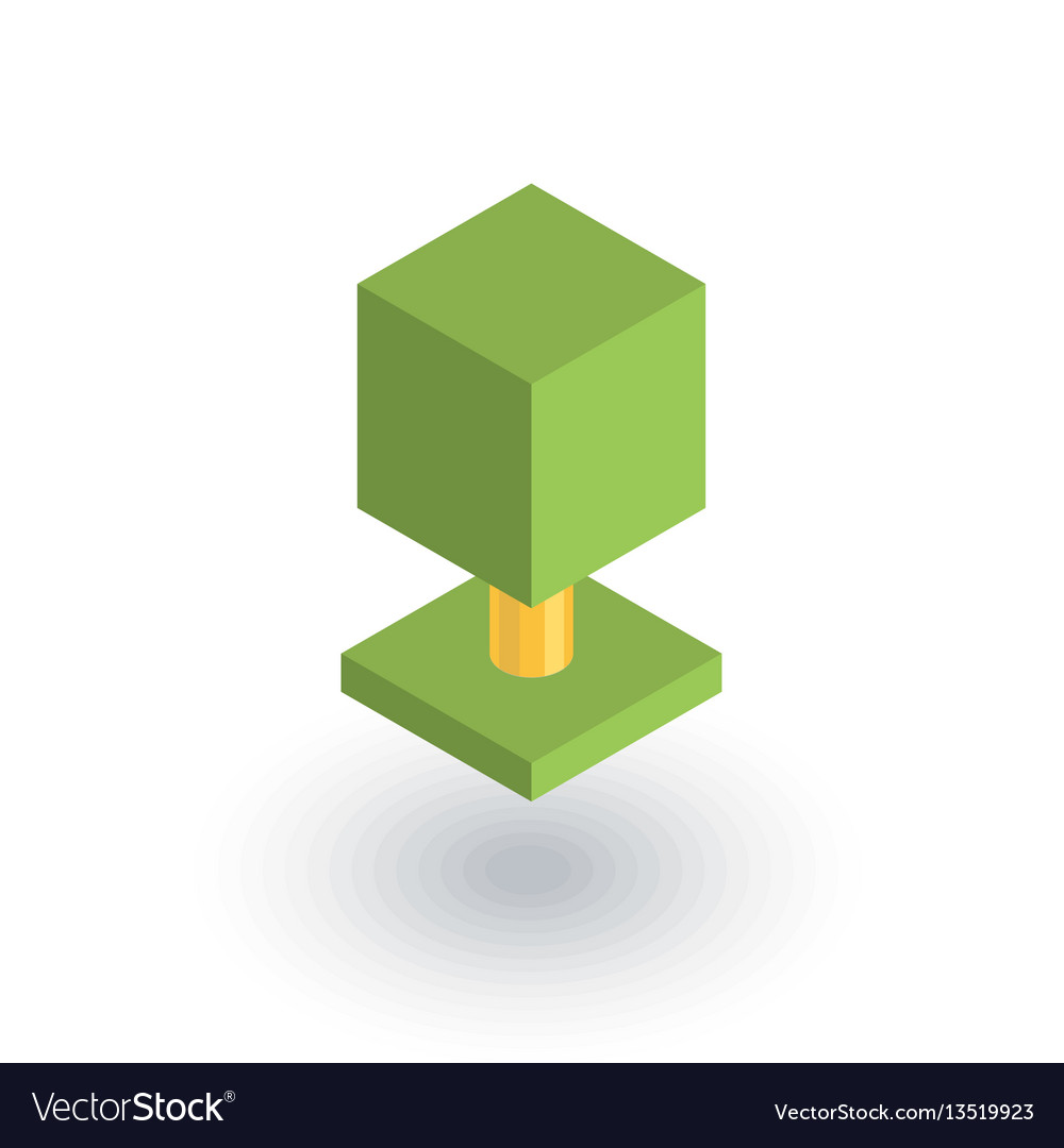 Tree isometric flat icon 3d