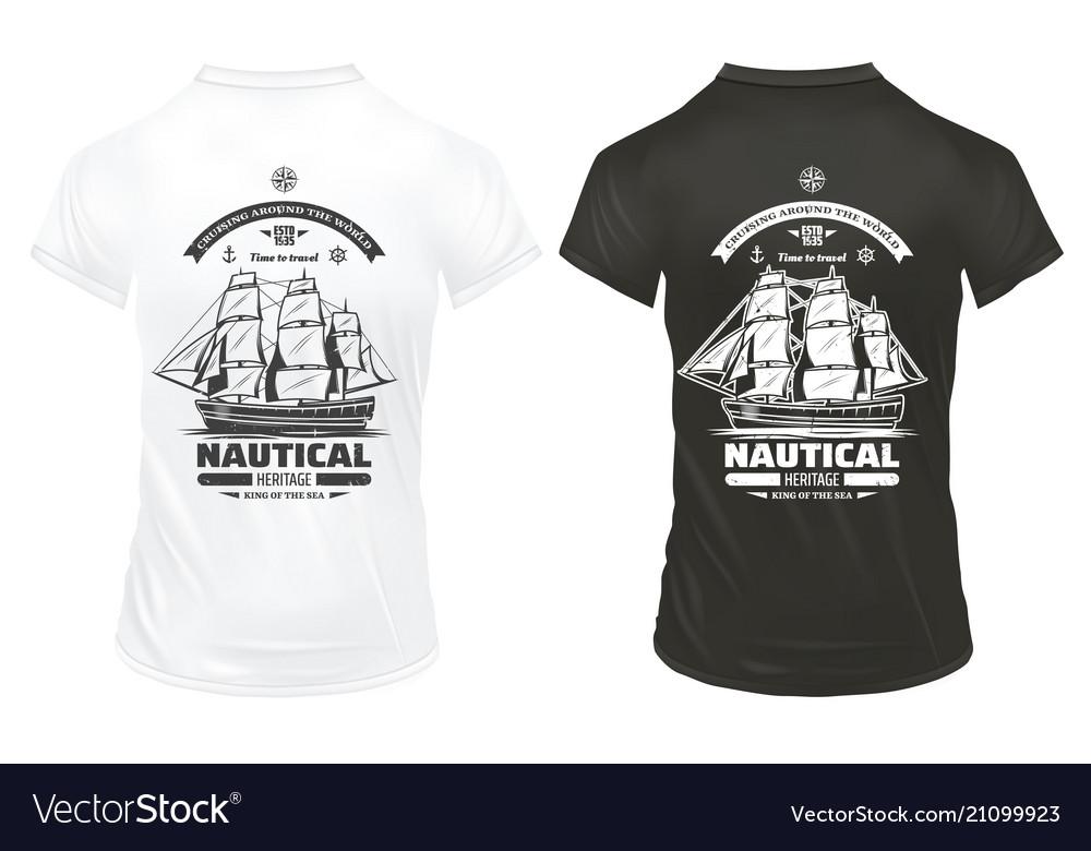 Vintage marine and nautical prints template