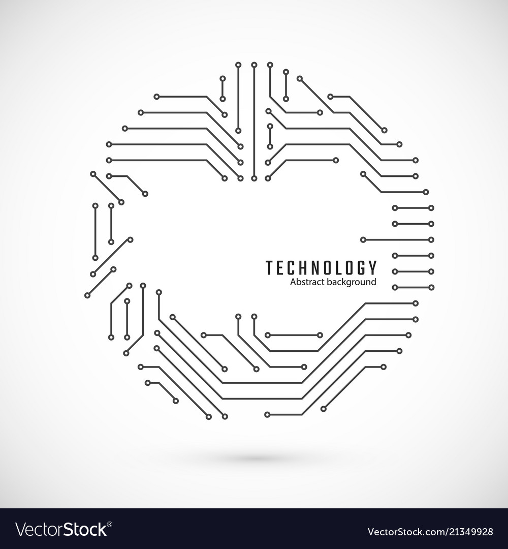 Abstract technology background print of circuit