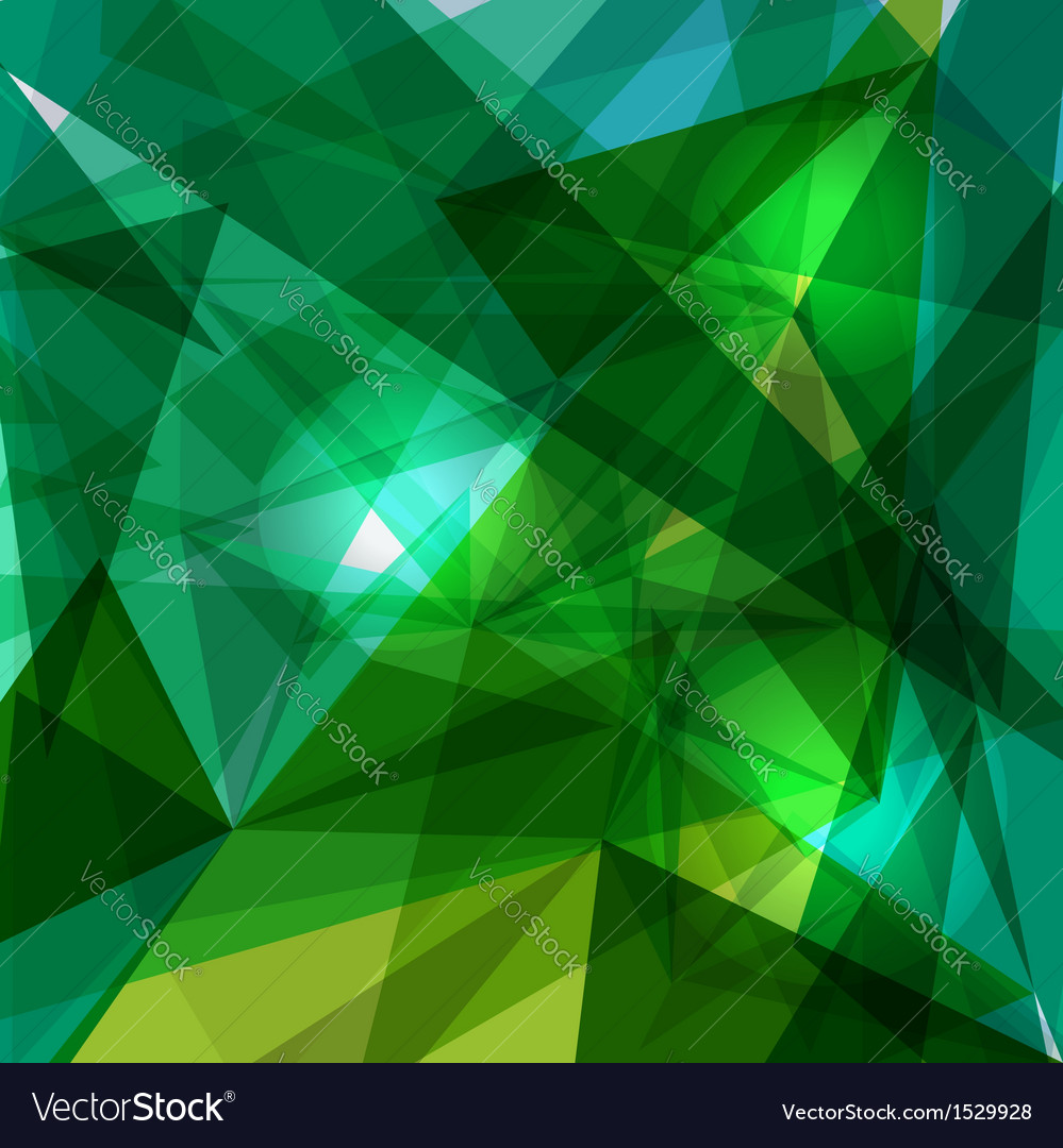 Blue and green geometric transparency