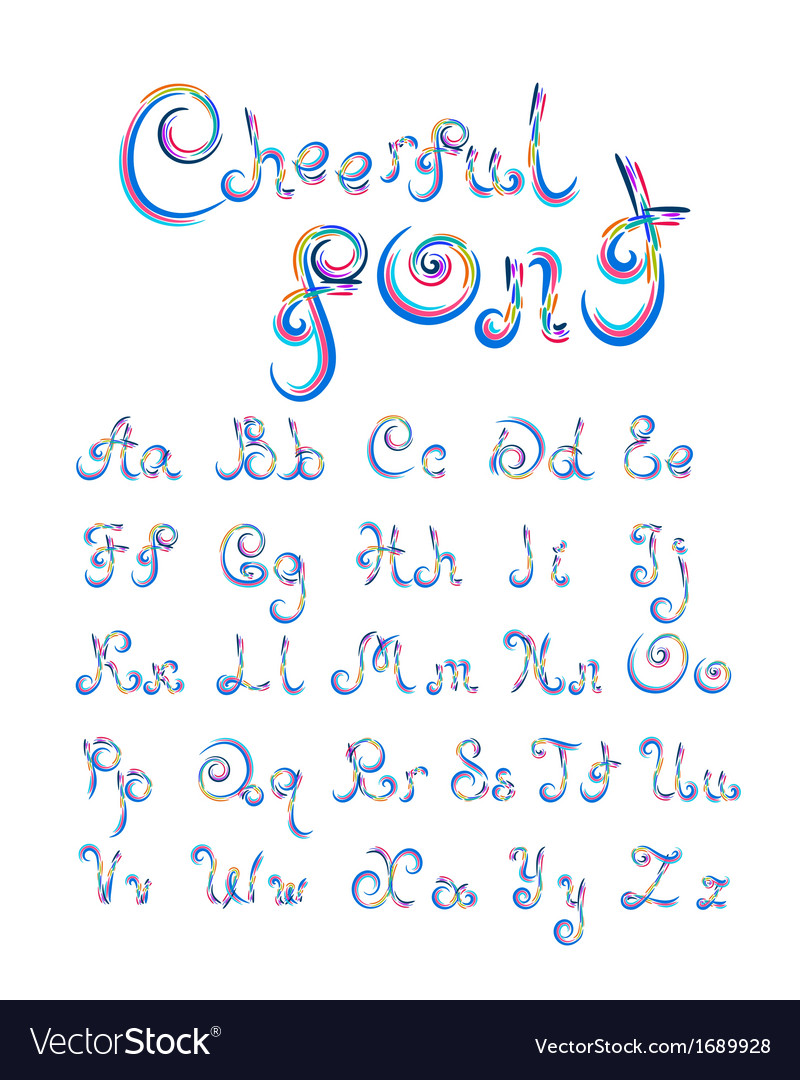 Cheerful font