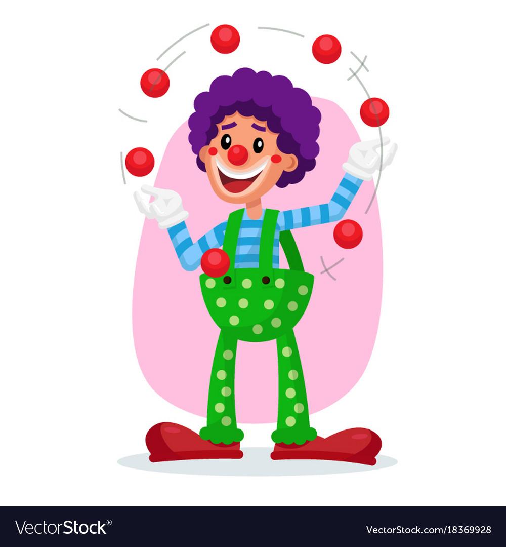 Classic clown amazing public circus show