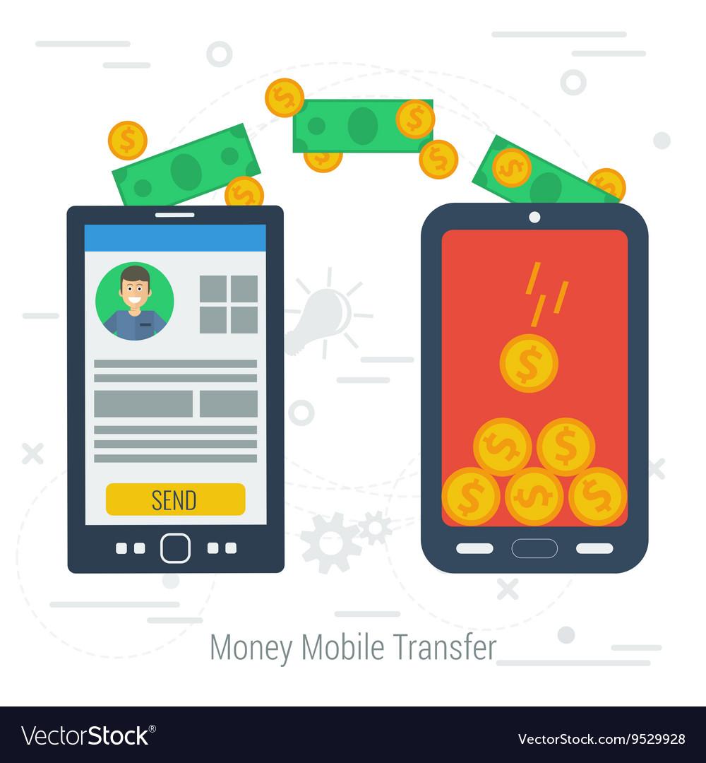 Concept mobile money transfering