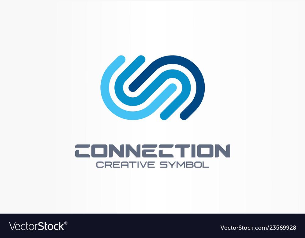 Digital connect creative symbol concept community