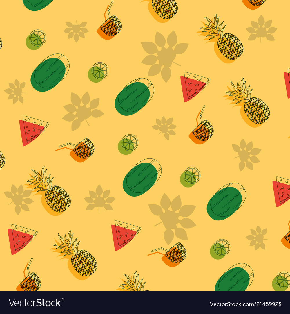 Fruits pattern background