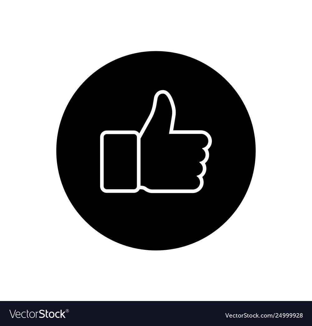 Like and dislike icons collection set thumbs up