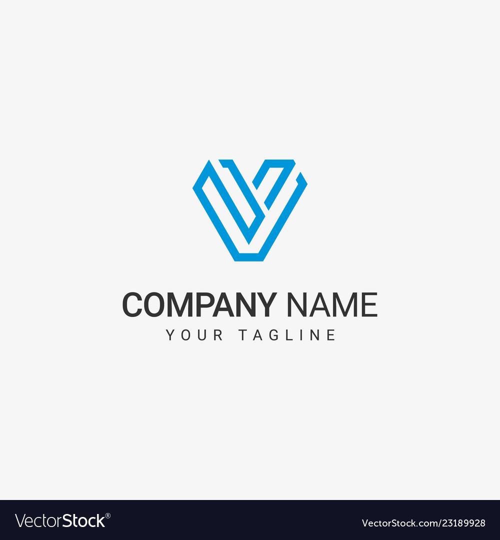 V line art logo