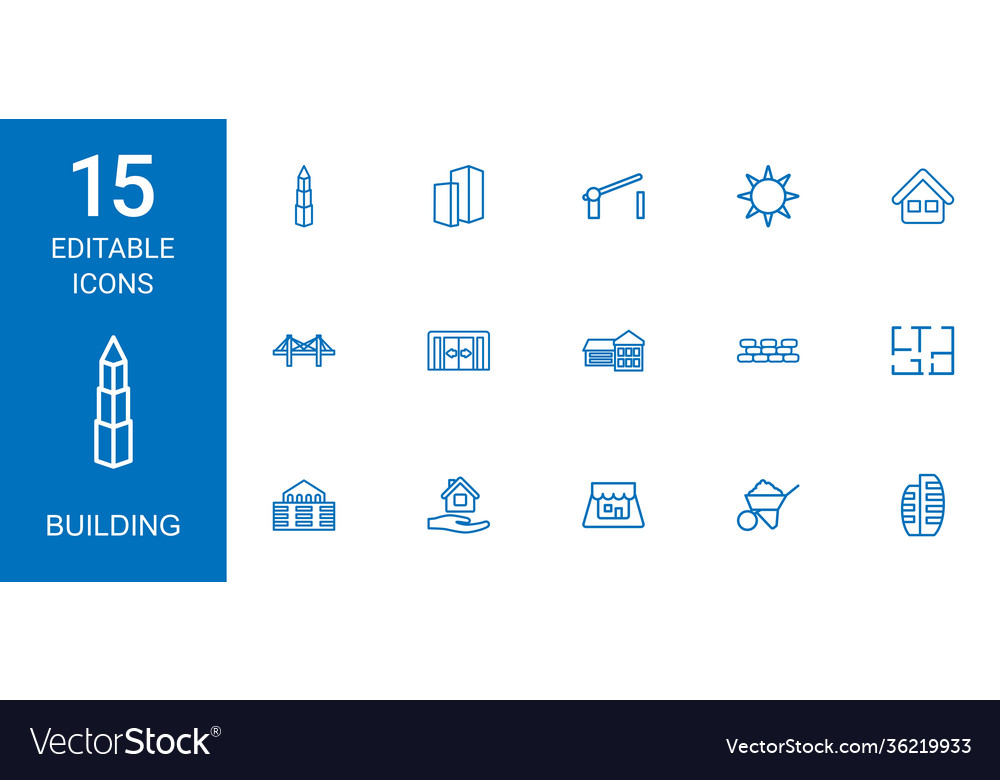 15 building icons