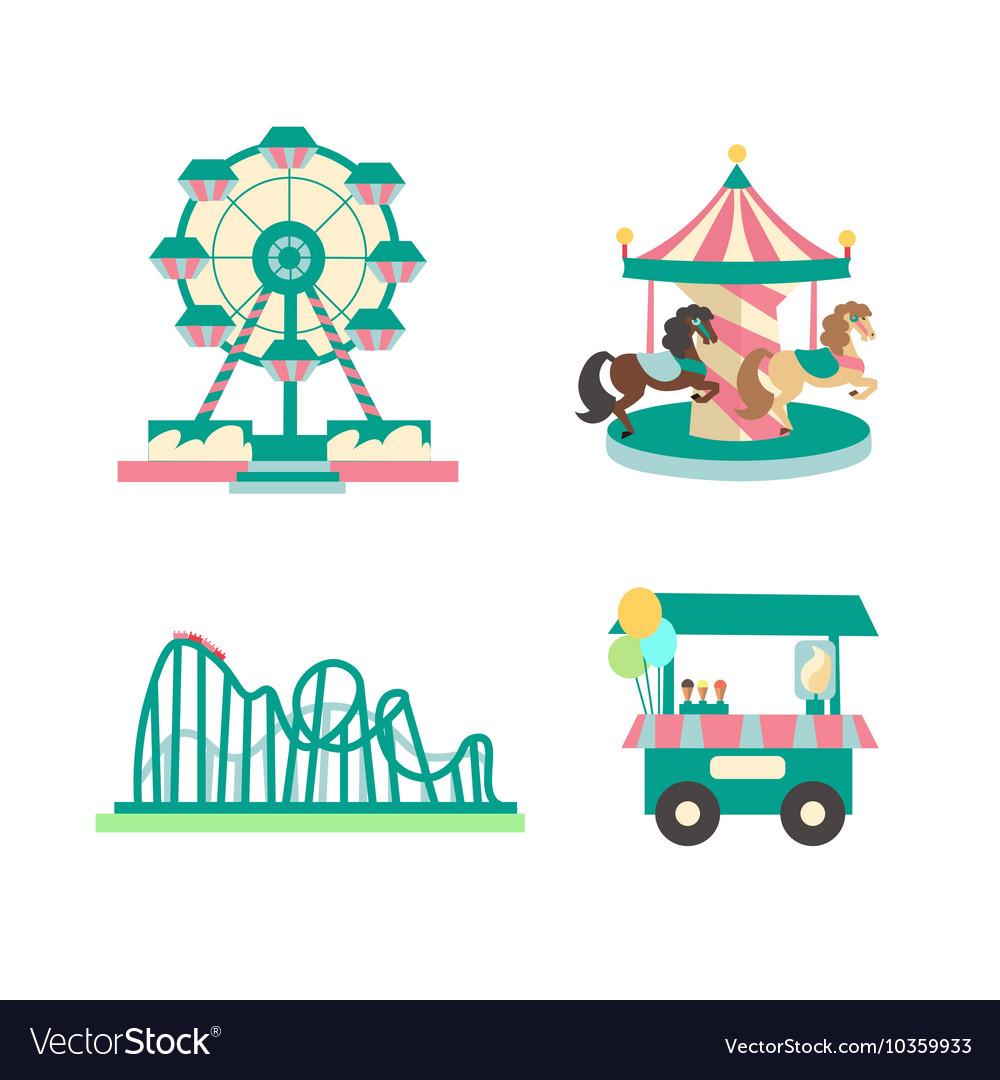 Amusement Park Color Sings Set