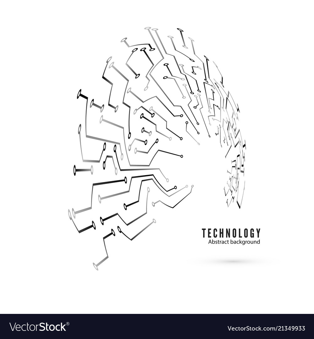 Circuit Pattern Abstract Technology Board Vector Image Computer Code And Background Illustration