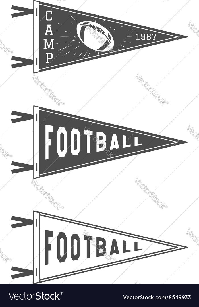 College football pennant flags set