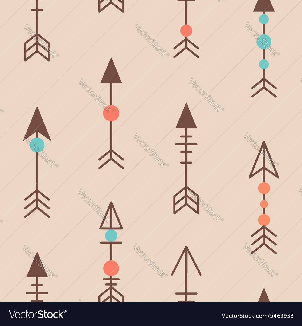 Cute geometric seamless pattern in cartoon style vector image