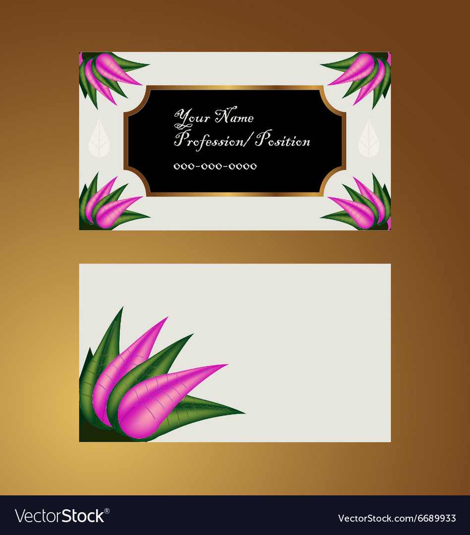 Garden Sweet Business Card Royalty Free Vector Image