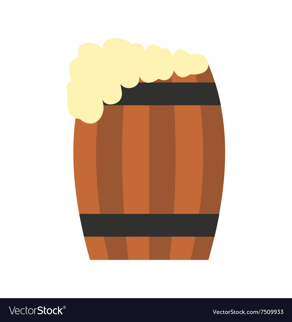 Keg of beer flat icon