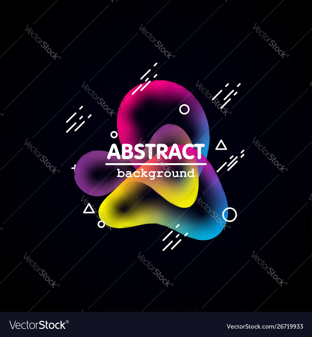 Motion amoeba fluid abstract background paper cut