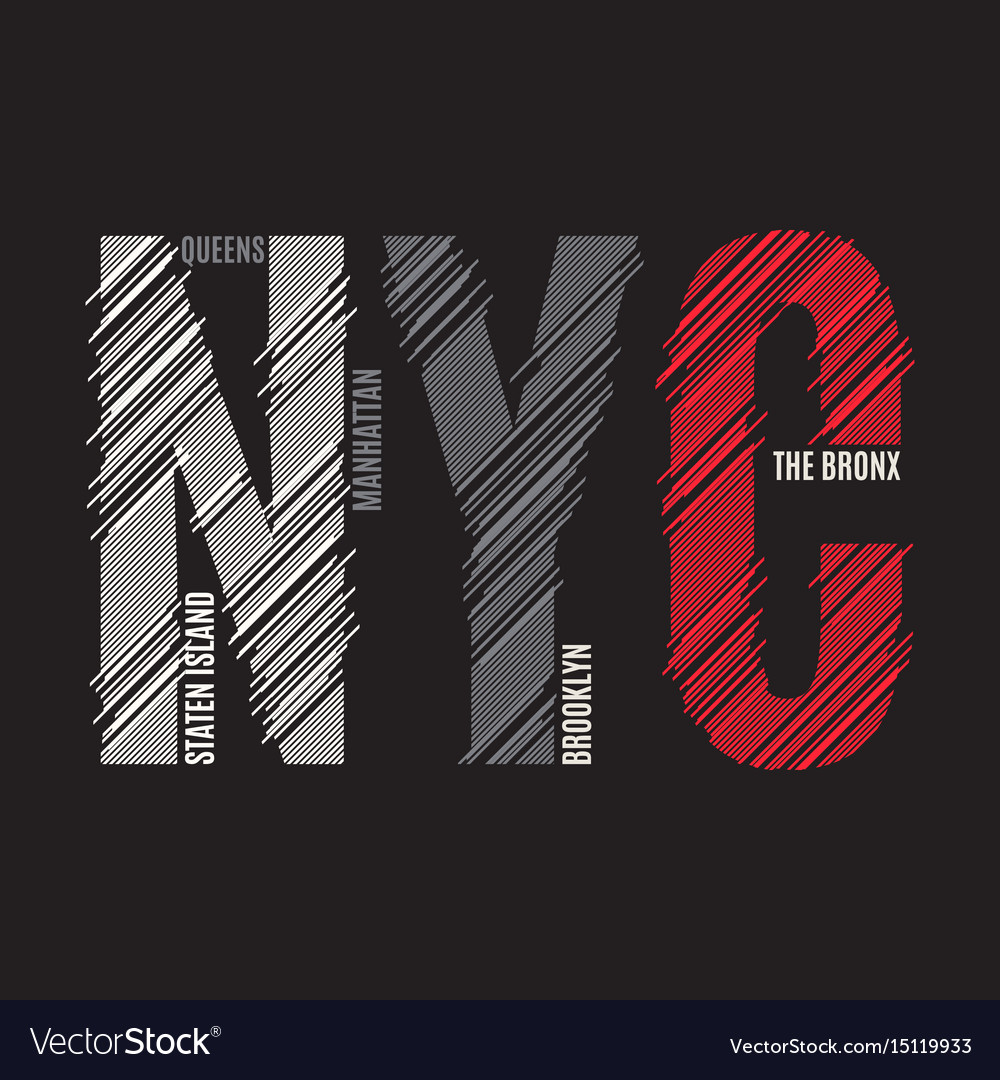 New york tee print t-shirt design graphics stamp