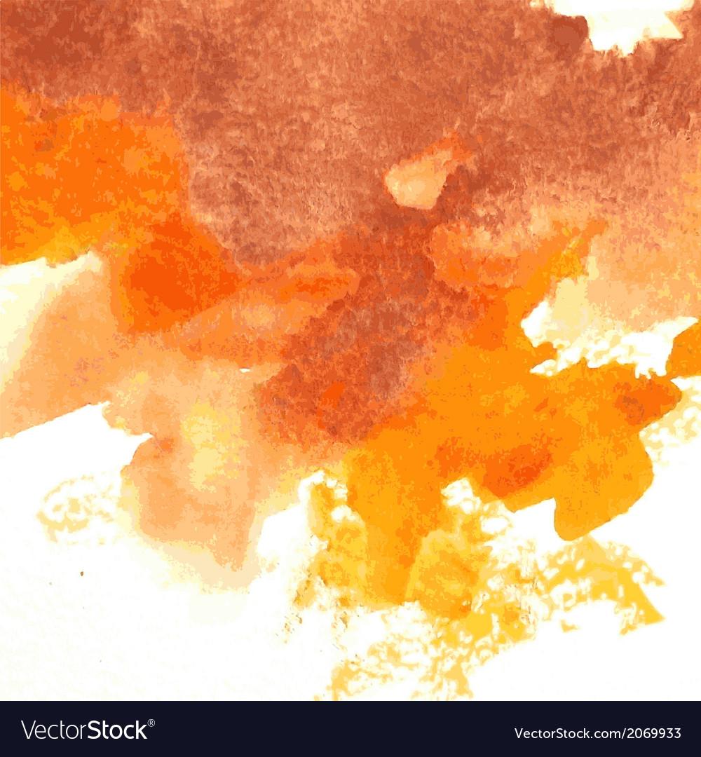 Orange watercolor