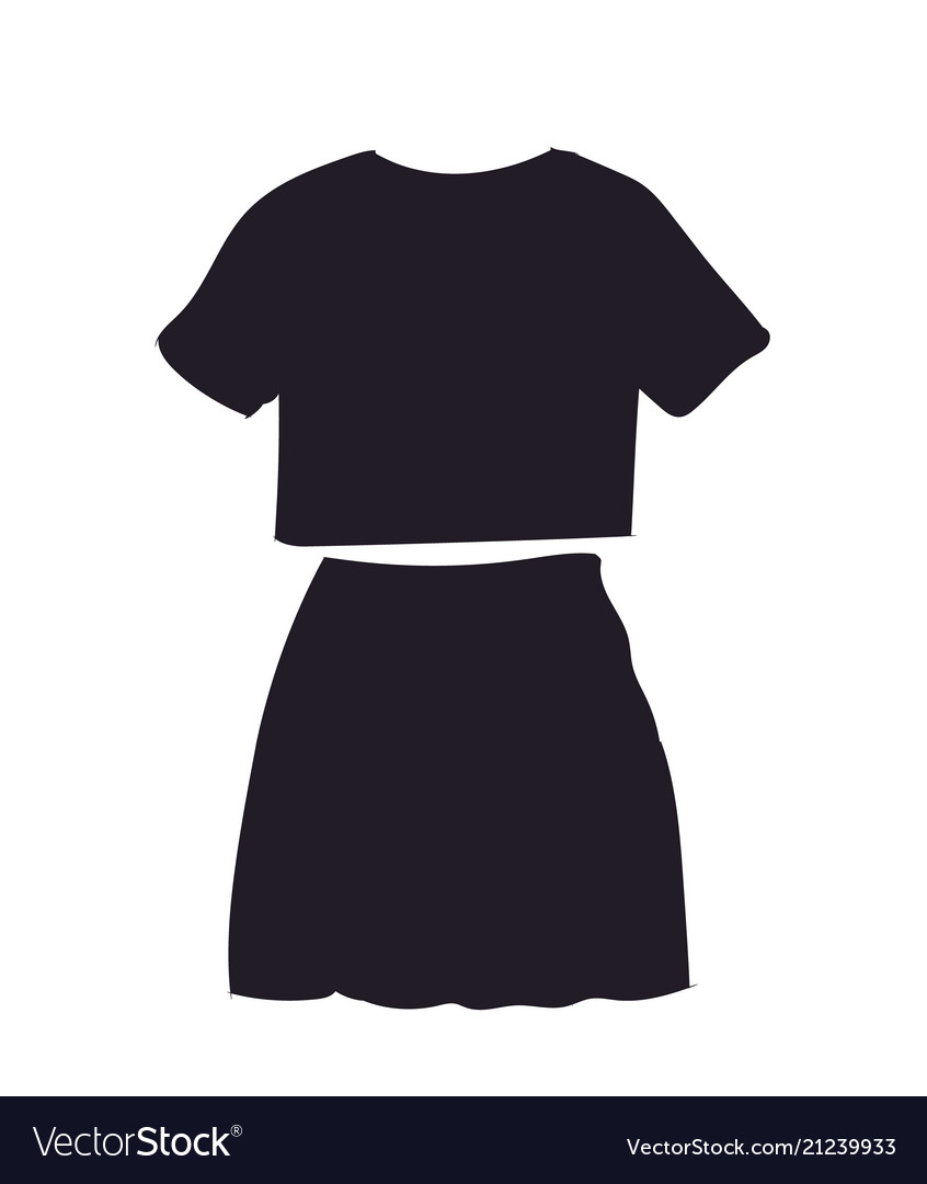 Skirt with t-shirt silhouette
