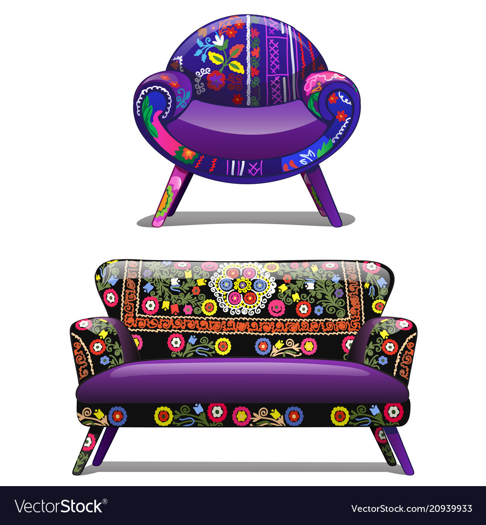 Chair With A Bold Pattern Vector Image