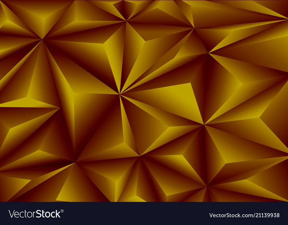 Abstract gold triangle polygon pattern background