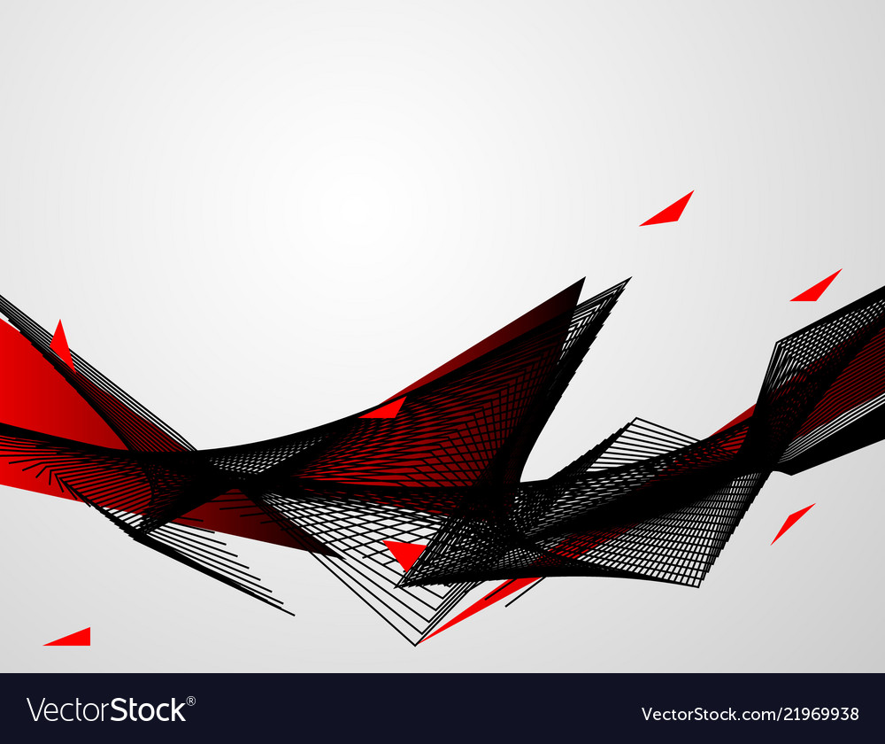 Abstract red black background waves