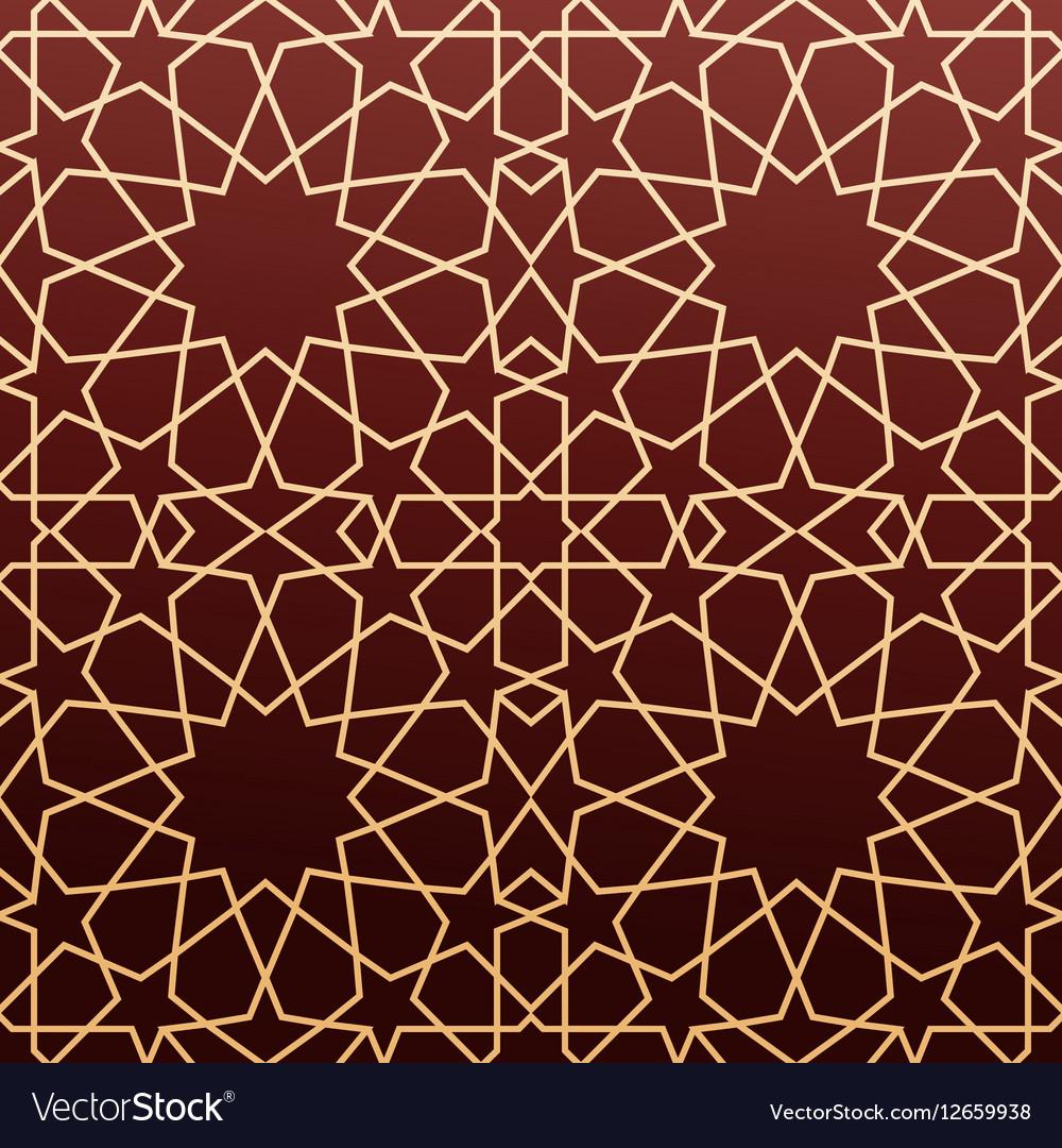 Arabic geometric art seamless pattern