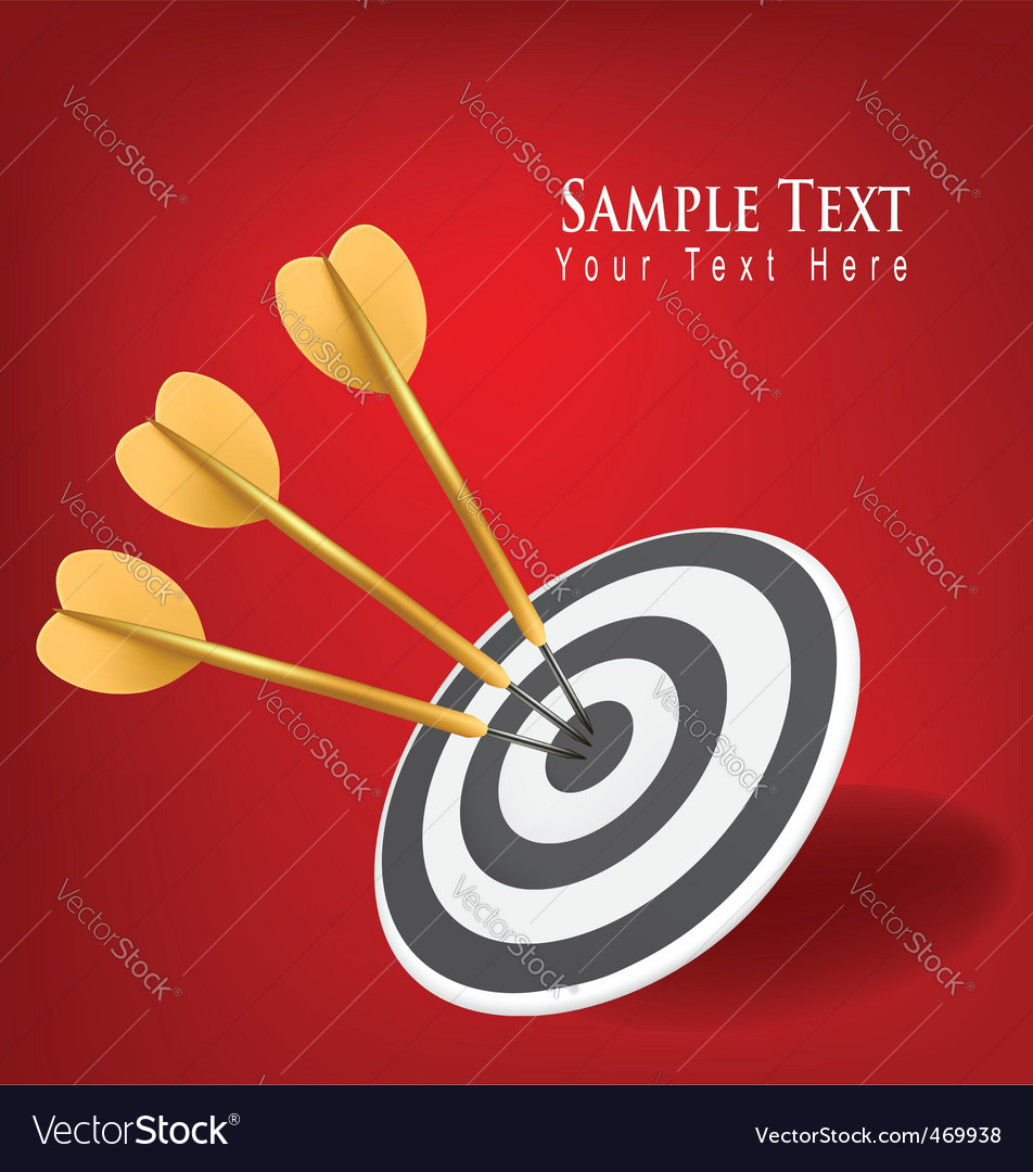 Concept with three gold drafts vector image