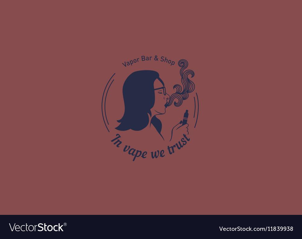 creative logo for the shop or bar vape royalty free vector