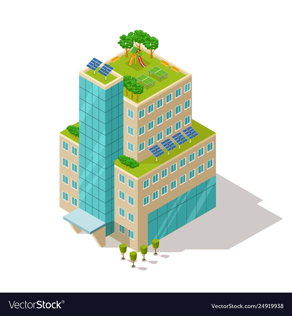 Ecological concept apartment or hotel building