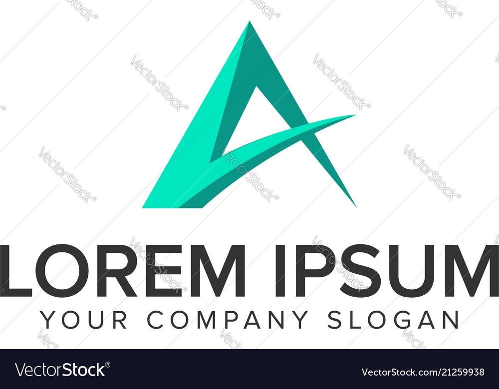 Mountain minimal logo design concept template