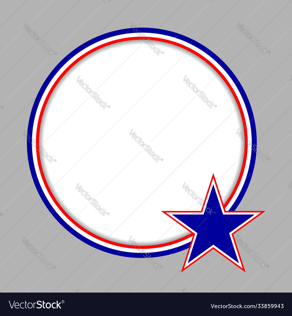 American characters flag round frame