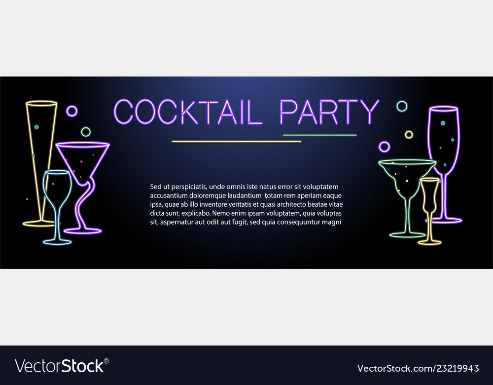 Banner template for night cocktail party