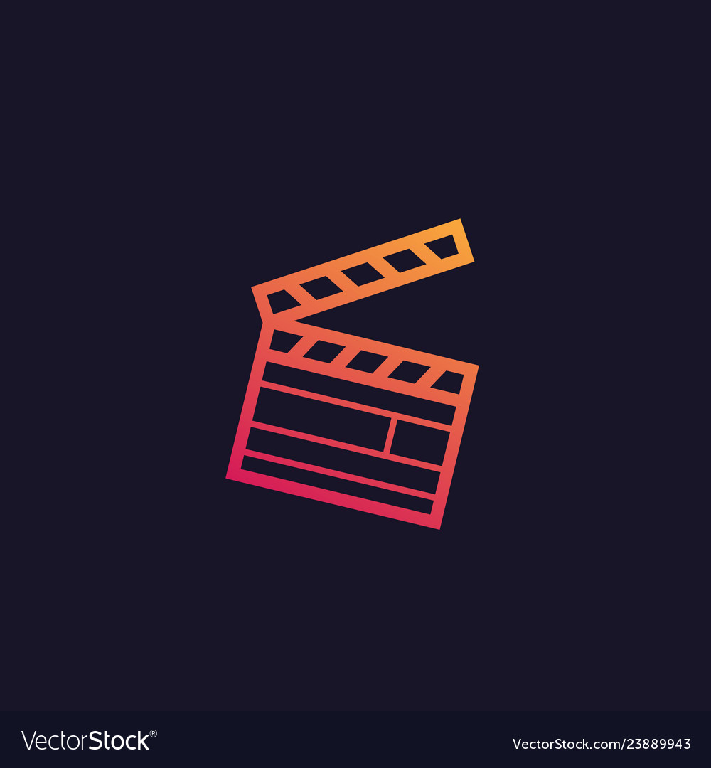 Clapperboard icon art