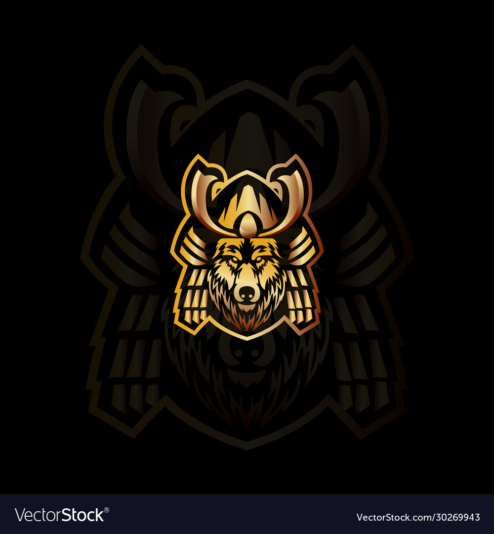Fox samurai mascot logo