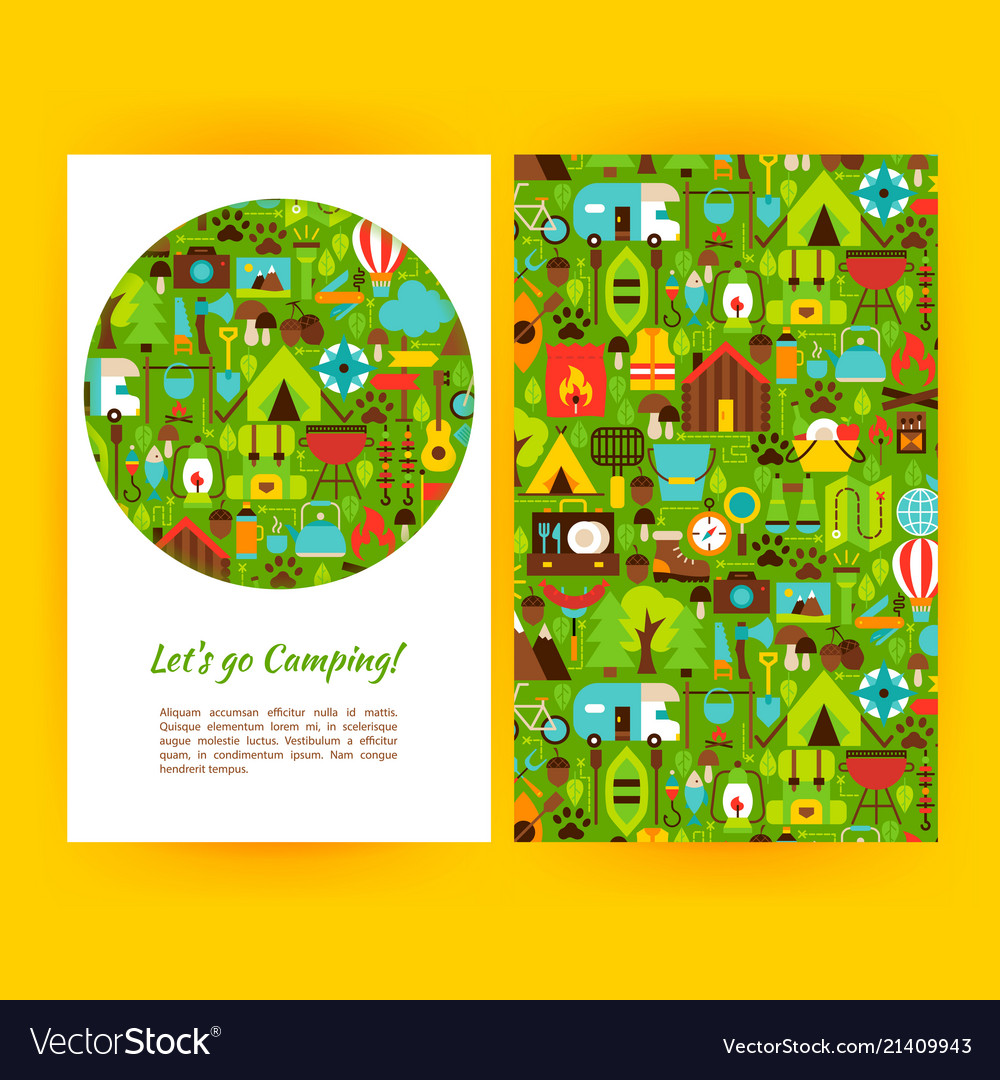 Lets go camping flyer template